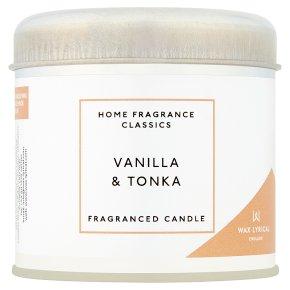 Wax Lyrical Vanilla & Tonka Tin