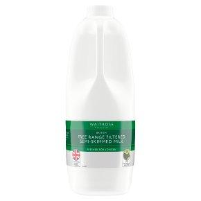 Waitrose Filtered Semi Skimmed Milk