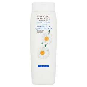 essential Waitrose daily care 2 in 1 shampoo & conditioner