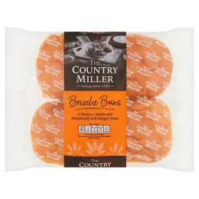 The Country Miller 4 Brioche Burger Buns