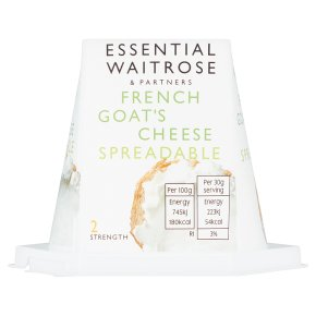 essential Waitrose French soft goat's cheese
