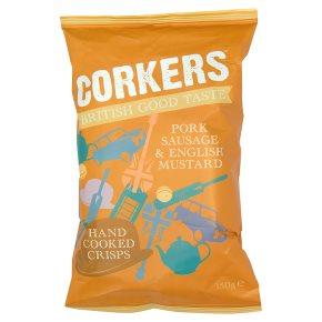 Corkers pork sausage & English mustard