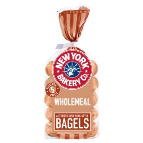 New York Bakery Co wholemeal bagels