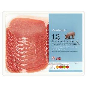 British unsmoked back bacon, 12 rashers
