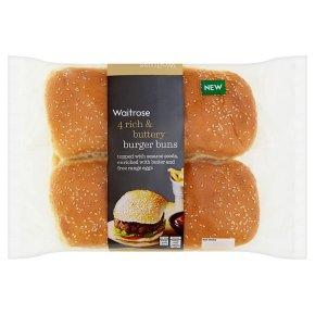 Waitrose rich & buttery burger buns