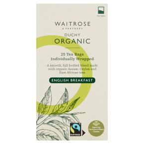 Waitrose Duchy Organic English breakfast tea, 25 bags