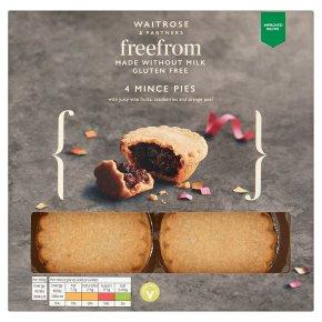 Waitrose Christmas 4 Gluten Free Mince Pies