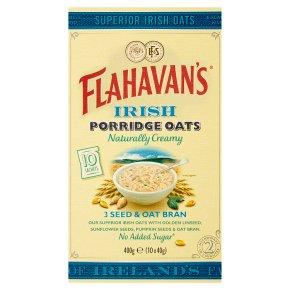 Flahavan's Irish Porridge Oats 10s 3 Seed & Oat Bran