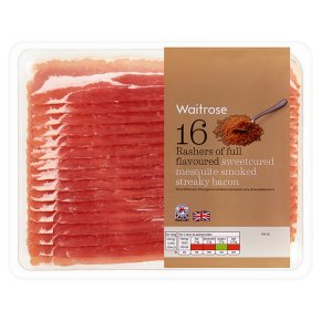Waitrose Mesquite Smoked Streaky Bacon