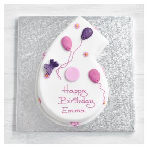 6th Birthday Butterfly Cake
