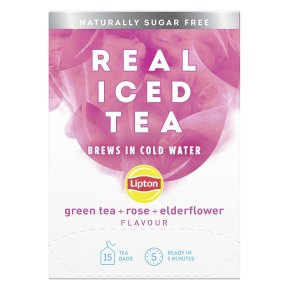 Lipton Real Iced Tea Green Tea, Rose, Elderflower 15s