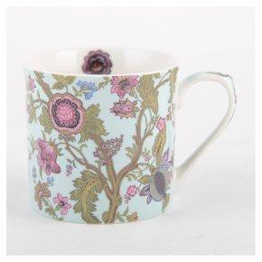 V&A turquoise oriental poppy mug