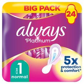Always Platinum Pads Normal Size 1