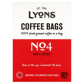 Lyons No 4 Dark & Intense Coffee Bags
