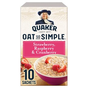 Quaker Oats So Simple strawberry, raspberry & cranberry porridge cereal sachets