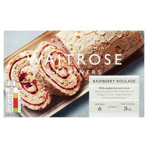 Waitrose frozen raspberry meringue roulade