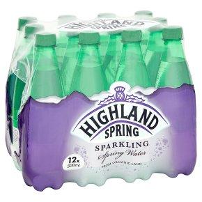 Highland Spring, spring sparkling water, 12 pack