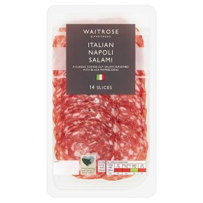Waitrose Italian Napoli salami, 16 slices
