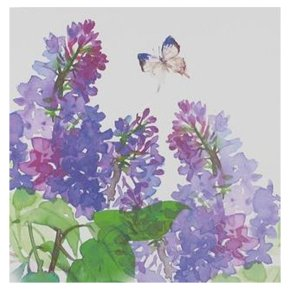 Waitrose Watercolours Purple Flowers