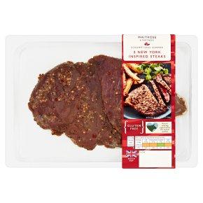Waitrose 2 New York Inspired Steaks