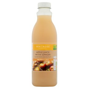 Waitrose apple juice with ginger