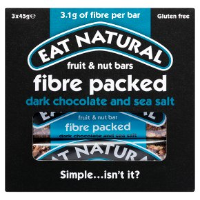 Eat Natural Fibre Packed Dark Chocolate & Sea Salt