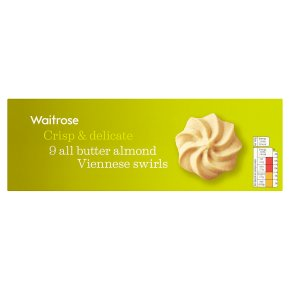 Waitrose 9 butter almond Viennese swirls