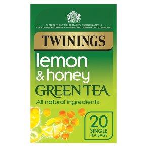 Twinings lemon & honey green tea 20 tea bags