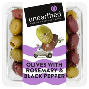 Unearthed Olives with Rosemary & Black pepper