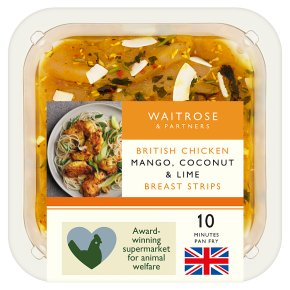 Waitrose British Chicken Mango, Coconut Lime Strips