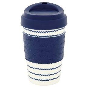 Waitrose Nautical Stripe Coffee Cup
