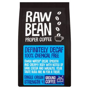 raw bean decaffeinated ground coffee waitrose. Black Bedroom Furniture Sets. Home Design Ideas