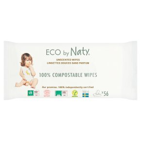 Naty sensitive wipes unscented