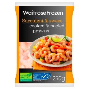 Waitrose Frozen Cooked & Peeled Canadian Prawns MSC