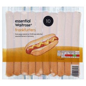 essential Waitrose 10 Frankfurters