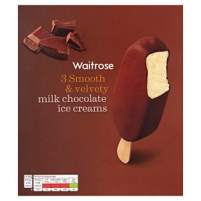 Waitrose 3 Belgian Milk Chocolate Ice Creams