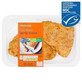 Waitrose MSC lightly dusted cod fillets