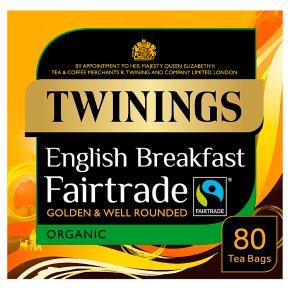 Twinings organic Fairtrade breakfast 80 tea bags