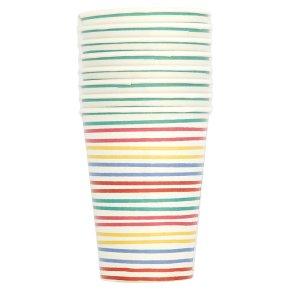 Waitrose Multi Stripe Paper Cups