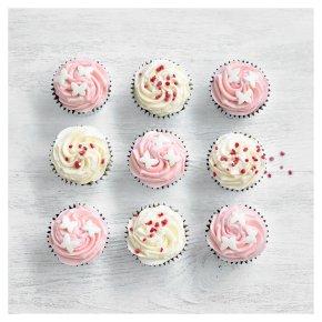 9 Strawberry and Vanilla Mini Cupcakes