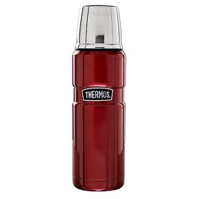 Thermos vintage red 0.47 litre flask