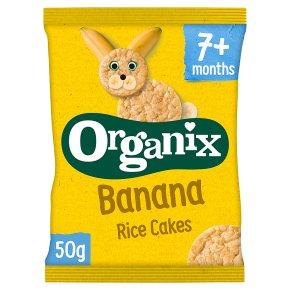 Organix banana rice cakes