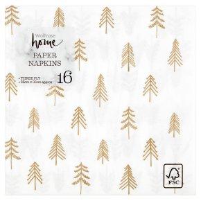 Waitrose Home Mini Trees Napkins 33cm x 33cm