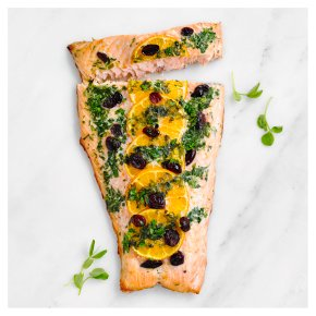 Salmon Side with Cranberry & Clementine