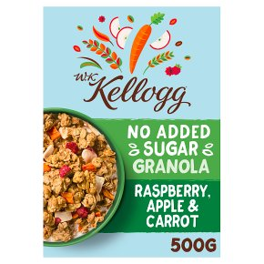 W K Kellogg No Added Sugar Apple & Carrot Granola