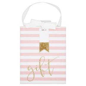 Waitrose Pink Stripe Gift Bag