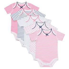 Waitrose 5PK Stars&Stripes B/suits 9-12M
