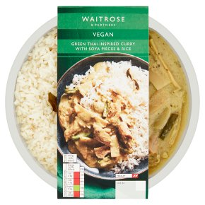 Waitrose Vegan Green Thai Curry Soya Pieces & Rice