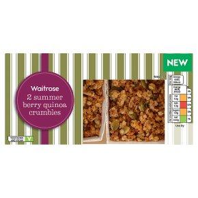 Waitrose 2 Vegan Berry & Quinoa Crumbles