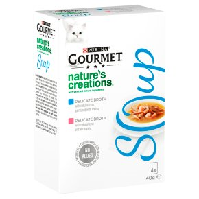 Gourmet Soup Cat Food With Tuna and Shrimp